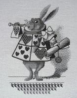 [Alice's Adventures in Wonderland] Royal School of Needlework留学中の作品です。ジョン・テニエルの挿絵を参考に、可愛らしさをプラスしました。