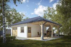 projekt G244 - Budynek garażowo - gospodarczy PRA1269