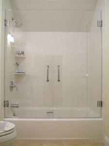 Dress Up The Area Above Your Fiberglass Shower Insert