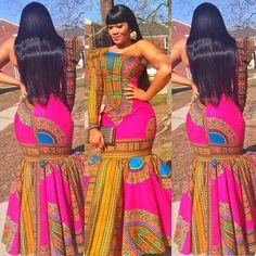 Creative Ankara Gown Style  http://www.dezangozone.com/2015/07/creative-ankara-gown-style.html