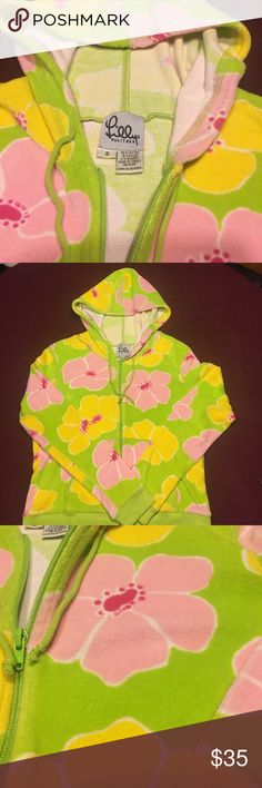 Lilly Pulitzer Terry Cloth Jacket Lilly Pulitzer Women's Terry Cloth Jacket. Size small. Green with pink and yellow flowers with a touch of white. Very good condition. All offers will be considered. Bundle and Save!!! Lilly Pulitzer Jackets & Coats