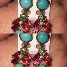 Sapphire Fashion earrings!!! Beautiful Sapphire Fashion Earrings! Gorgeous and great quality!! Bundle your items Amiga and save on shipping:) Jewelry Earrings