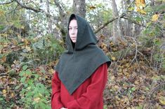 My tutorial on the Skjoldehamn hood (viking hood, viking clothing, viking woman, shieldmaiden) Tutorial Skjoldehamn hood / Sy Sköldehamnshättan - geirlaug.blogg.se