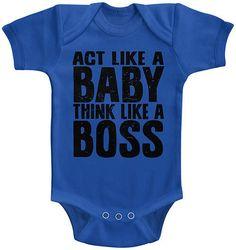 Royal Blue 'Think Like a Boss' Bodysuit