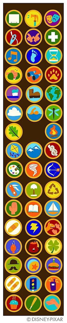 Up badges for Wilderness Explorer Costume - Russell - Pixar