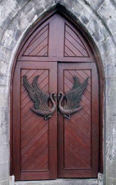 Monastery Door at Drumcliffe, county Sligo, Ireland. (Grave site of W.B. Yeats) ..rh