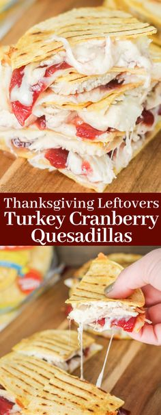 Corn Tortillas Filled With Leftover Thanksgiving Turkey, Cranberry Sauce, And Melted Cheese Make These Turkey Cranberry Quesadillas The Perfect Day-After-Thanksgiving Lunch Or Dinner Missionfoodsus Thanksgiving Lunch, Thanksgiving Leftover Recipes, Leftover Turkey Recipes, Leftovers Recipes, Lunch Recipes, Meat Recipes, Fall Recipes, Mexican Food Recipes, Holiday Recipes