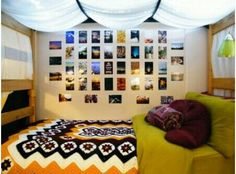 Dorm ideas -- lights underneath the top bunk and ... | College Life
