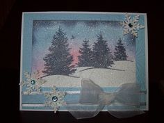 Dryer Sheet Technique (Scenic Season) by mamawcindy - Cards and Paper Crafts at Splitcoaststampers
