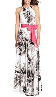 Smile YKK Women Flower Pattern Loose Sleeveless Party Evening Maxi Long Dress XL. Material:Cotton. S:Bust 85-88cm Waist 65-67cm Hip 91-94cm Shoulder 37-39cm Length 144-146cm M:Bust 90-93cm Waist 70-72cm Hip 97-99cm Shoulder 38-40cm Length 146-148cm. L:Bust 97-100cm Waist 76-80cm Hip 103-107cm Shoulder 39-41cm Length 148-150cm XL:Bust 104-109cm Waist 84-88cm Hip 110-116cm Shoulder 40-42cm Length 150-152cm. High Quality, Sexy, Charming, Fashionable & Comfortable. It's great for daily casual…