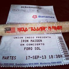 Mi baqueta de Nikko McBrain.. #IronMaiden #Concert #DrumStick #Boomer #Maiden #MexicoCity