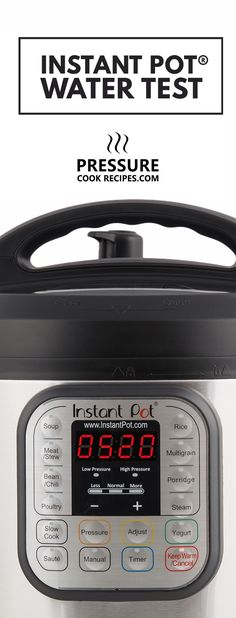 Start off with Instant Pot Water Test: Includes Video + Step-by-Step Instructions to familiarize yourself with Instant Pot Pressure Cooker. via @pressurecookrec