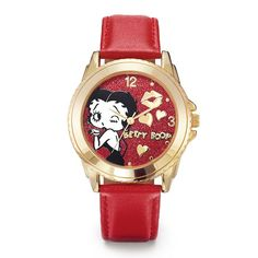 "Time for a smooch! Adorable, Betty Boop-design dial with 9"" L leatherlike strap. Regularly $29.99, shop Avon Jewelry online at http://eseagren.avonrepresentative.com"