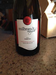 2011 Milbrandt Vineyards Primitivo - wine label design by saranelsondesign.com