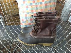 SOLD! LL Bean Duck waterproof boots fits us men 7/women 8.5. $65.00, via Etsy. #duckboots #boots