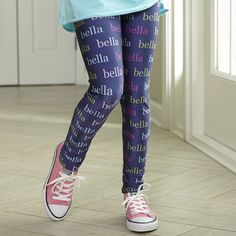 Girls Navy NAME Arden Leggings