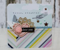 Hello Sunshine ... Love You #card by Sheri Reguly #SCTMagazine