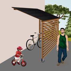 Comment construire un abri à vélo ? Ooreka Garage Velo, Outdoor Awnings, Outside Living, Backyard, Patio, Bike Storage, Toulouse, Home Decor, Furniture