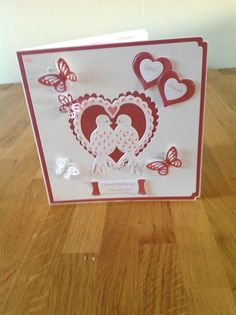 Tonic lovebirds wedding card