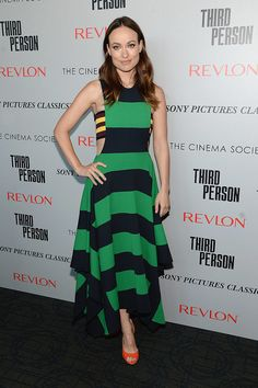 Who knew yellow, green, orange, and black went so well together? At the New York Third Person screening, Olivia Wilde (and, of course, Stella McCartney) did!