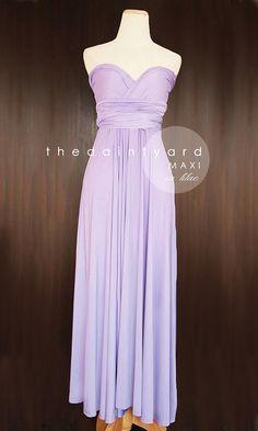 MAXI Lilac Bridesmaid Convertible Dress Infinity Dress Multiway Dress Wrap Dress Light Purple Pastel Wedding Dress Long Full Length