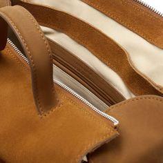 SUEDE COMBINATION BOWLING BAG - Handbags - Woman - ZARA Thailand
