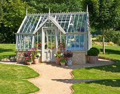 Private Garden builds Greenhouses, Victorian Glasshouses, Conservatories, Kiosks and Garden Centers - A Victorian Glasshouse from Private Garden Greenhouse Systems