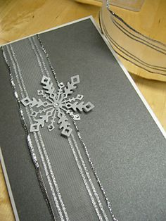 Winter wedding - menu but with gold shimmer paper and small gold glitter branch
