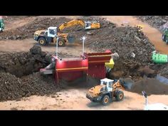 HEAVY CONSTRUCTION SITE, AWESOME RC MACHINES WORKING, RC CONSTRUCTION SITE ! - YouTube