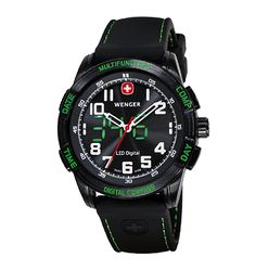 Other Wholesale Wristwatches 40133: Wenger Mens Nomad Led Compass Pvd Case Green Led Black Dial, Black : 70433 BUY IT NOW ONLY: $360.0