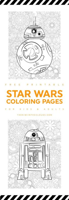 Printable Coloring Pages, Coloring Pages For Kids, Coloring Books, Colouring, Star Wars Birthday, Star Wars Party, Star Wars Classroom, Anniversaire Star Wars, Star Wars Crafts
