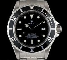 #Rolex Stainless Steel O/P Black Dial #SeaDweller Gents B&P #16600