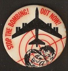 Vietnam War Protest Button