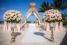 Light Pink Wedding Held At The Gazebo Here Dreams Riviera Cancun Dreamsrivieracancun