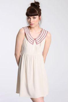 Mauve collar dress