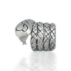 Bling Jewelry 925 Sterling Silver Snake Animal Bead Pandora Compatible