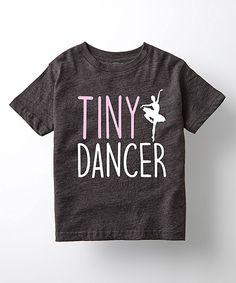 Heather Charcoal 'Tiny Dancer' Tee - Toddler & Girls