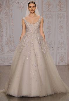 Lavender Ball Gown Wedding Dress | Monique Lhuillier Fall 2015 | blog.theknot.com