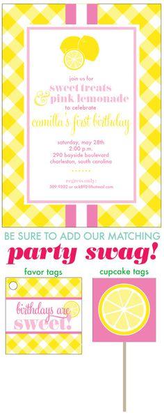 girl's birthday party idea  Sweet Treats & Pink Lemonade