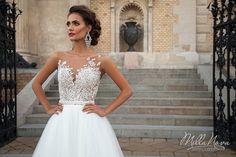 moda casar vestido de noiva vestido tendência renda milla nova