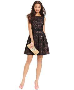 $179 Isaac Mizrahi Dress, Sleeveless Sequined A-Line - Dresses - Women - Macys