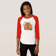 Pumpkin Nerd Emoji Thanksgiving Halloween T-Shirt - thanksgiving day family holiday decor design idea