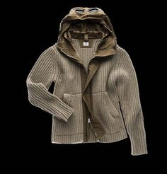 Open knit lambs wool sweater with goggle and convenient microfiber and polyester nylon hood. Warm and fun, this article will be a clear must have during cold winter nights.