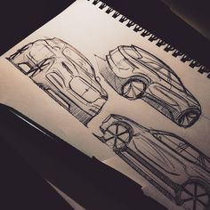Sketches of British cars on Behance