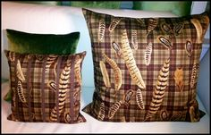 POST CARDS from away- Fall feather pillows!