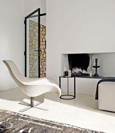 Fabric #armchair with 4-spoke base MART by B&B Italia | #design Antonio Citterio @bebitalia
