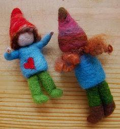 How to needle felt little gnomes.