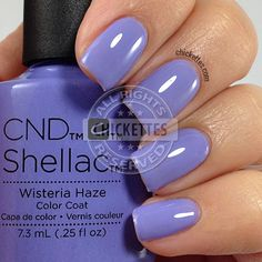 CND Shellac Garden Muse Collection - Wisteria Haze - swatch by Chickettes.com