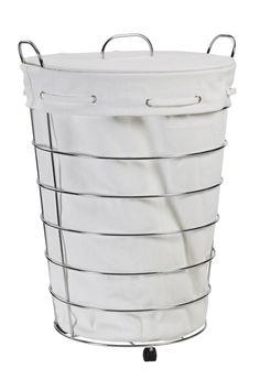 Elegante cesto para colocar la ropa sucia, es perfecto para el baño o el dormirtorio.
