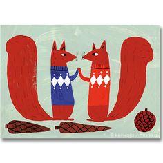 Kehvola Design / Matti Pikkujamsa [ Kapyset ] postcard - 北欧雑貨 マルカ - 神戸・北野の北欧カフェ&ヴィンテージ、kaffe antik markka